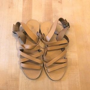 Madewell Strappy flat leather sandals